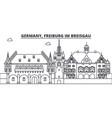 germany freiburg im breisgau line skyline vector image vector image