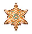 gingerbread cookies snowflake of vector image vector image