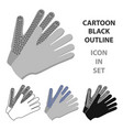 gloves icon of for web and vector image vector image