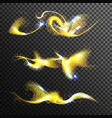gold glittering stars dust golden magic vector image