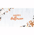 halloween web banner with sweets vector image vector image