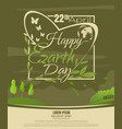 happy earth day beautiful spring landscape vector image vector image