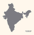 hexagonal halftone design india map vector image