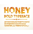 honey bold typeface vector image