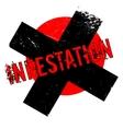 Infestation rubber stamp vector image vector image