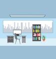 interiores workspace coffee shop vector image
