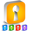 keyhole graphics for secrecy privacy concepts vector image