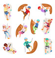 kids climbing climber children girl boy vector image