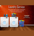 laundry service design with washing machines vector image vector image
