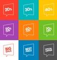 Line Discount Labels vector image vector image