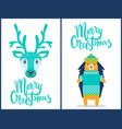 merry christmas banners on vector image vector image