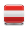 Metal icon of Austria vector image vector image