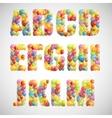 multicolored balloon alphabet vector image