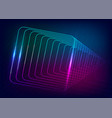 neon-glowing techno lines hi-tech futuristic vector image