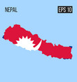 nepal map border with flag eps10 vector image