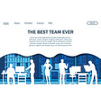 office team website landing page design vector image vector image