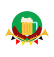 oktoberfest common glass of beer vector image