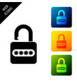 password protection and safety access icon on vector image vector image