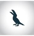 Pelican simple icon vector image vector image