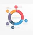 Pie Chart Infographics vector image vector image