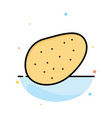 potato food abstract flat color icon template vector image vector image