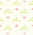 pretty stylized flower grass pattern seamless vector image vector image