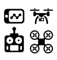 Quadrocopter Icons vector image