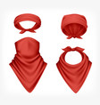 realistic red buff set vector image