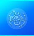 rpa enterprise resource planning icon linear vector image vector image