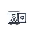 safe box money line image vector image