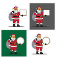 santa claus greeting board on christmas vector image