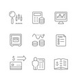 set line icons accounting vector image vector image