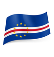 State flag of Cape Verde vector image