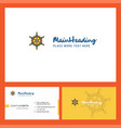 steering logo design with tagline front and back vector image