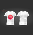 stock white and black men t shirt realistic vector image vector image