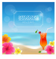 Summer background and vector image