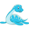swimming plesiosaurus cartoon vector image vector image