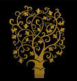 The golden tree symbol vector image vector image
