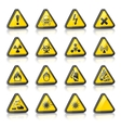 three-dimensional hazard signs vector image vector image