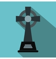 Tombstone flat icon vector image vector image