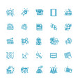 tv and media news icons set vector image