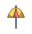 umbrella protection of the change weather vector image vector image