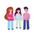 vaccination medical care boy and girls patient vector image