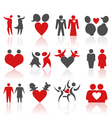 valentines people icons vector image vector image