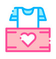 volunteers support thing box thin line icon vector image vector image