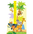 wild animals height meter vector image vector image