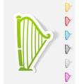 realistic design element harp vector image