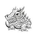 Zentangle tribal dragon designs vector image