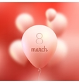 8 March International Women Day pink vector image vector image