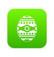 beautiful easter egg icon digital green vector image